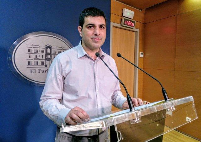 El portavoz de MÉS, Josep Ferrà. Abril 2018