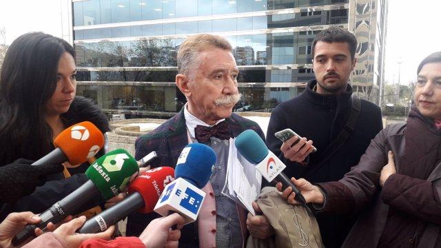 El abogado García Montes en el juicio del tiroteado en Chamberí