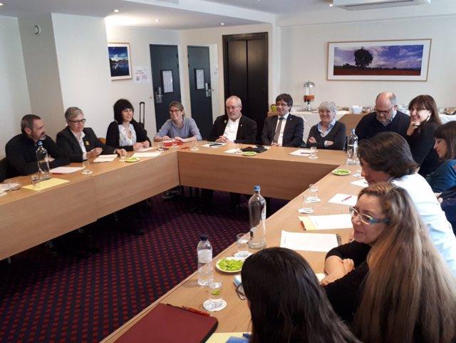 Reunión en Bruselas de los diputados de JxCat