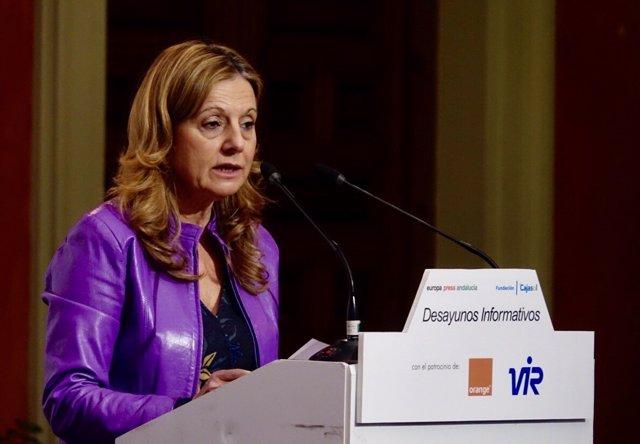 La consejera de Salud, Marina Álvarez, en los Desayunos de Europa Press