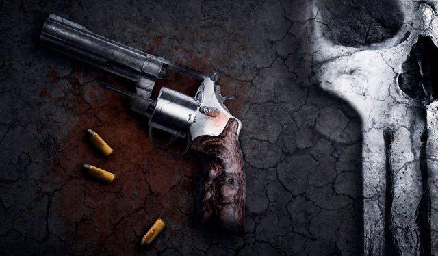 Una pistola con balas
