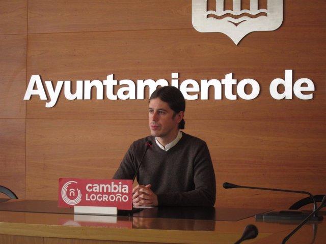 Gonzalo Peña , portavoz de 'Cambia Logroño'