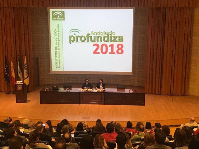 Inauguración de las jornadas 'Andalucía Profundiza' de 2018