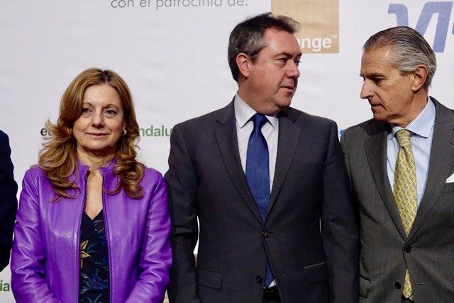 Marina Álvarez, con Espadas, en los Desayunos de Europa Press Andalucía