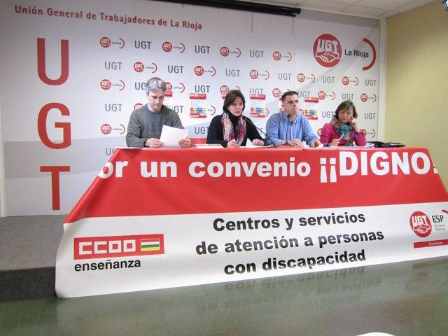Petición de UGT y CCOO convenido digno discapacidad