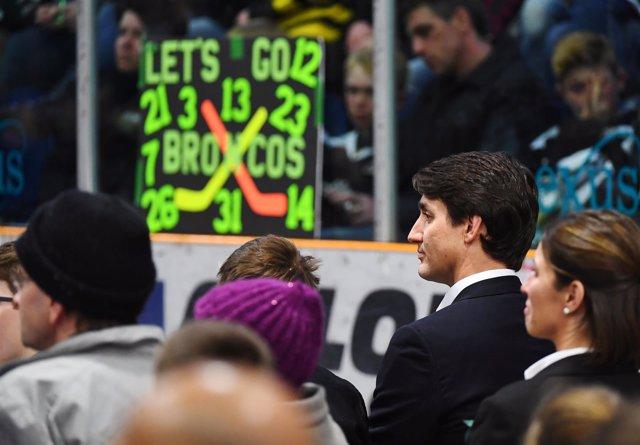 El primer ministro canadiense, Justin Trudeau, en la vigilia del Elgar Petersen