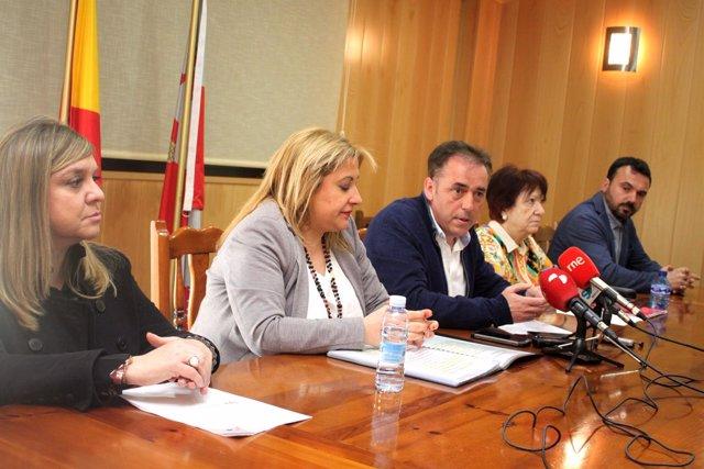 Mamen Rubio (I), Yolanda Gregorio, Serrado, Delgado  y Andoni Martín