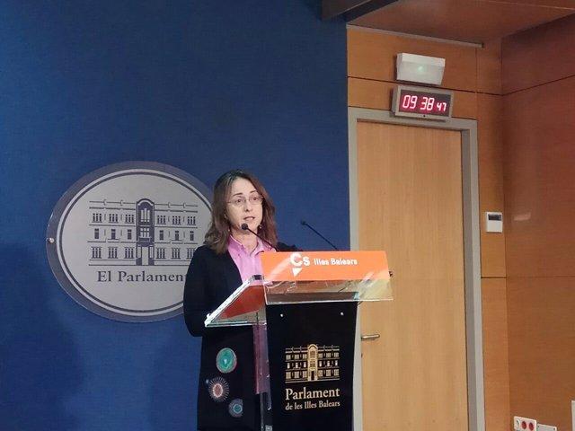 La diputada de Cs Olga Ballester. Abril 2018.