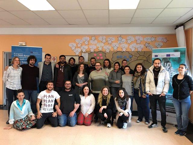 Foto de grupo de los voluntarios
