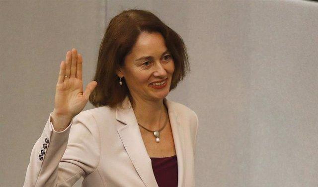 La ministra de Justicia Katarina Barley jura su cargo