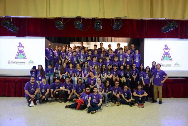 Participantes del Sevilla Startup Weekend Education