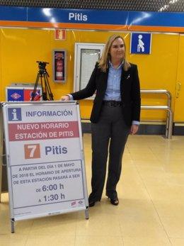 Rosalía Gonzalo presenta la ampliación de horario en Pitis