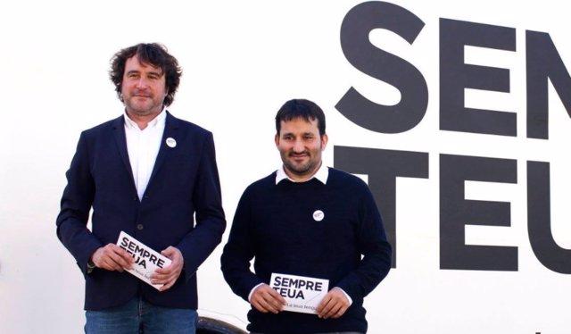 Rubén Trenzano y Vicent Marzà en una foto de archivo
