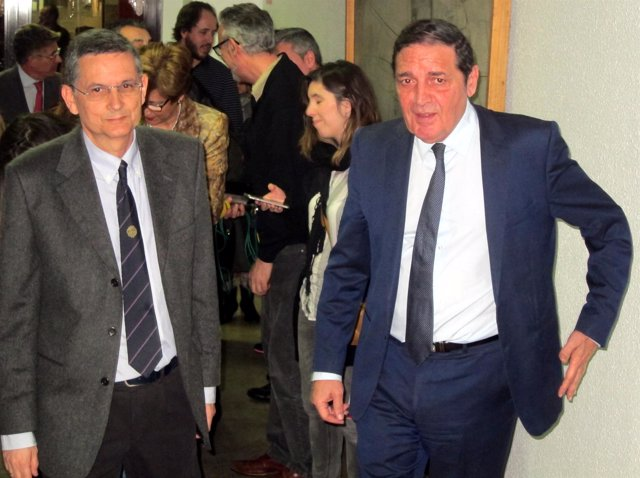 Rogelio González Sarmiento con Sáez Aguado. 9-4-2018