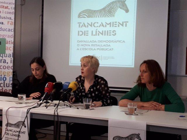 Marina Gassol, Belen Tascon y Andrea Tuset, Fapac