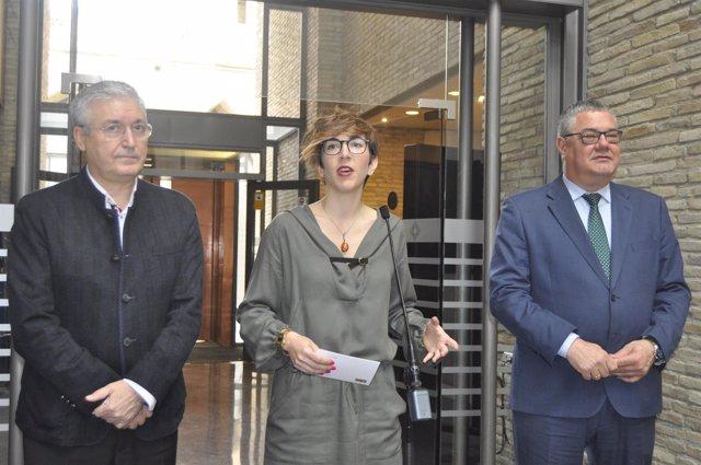 García Madrigal, Violeta Barba y Antonio Torres
