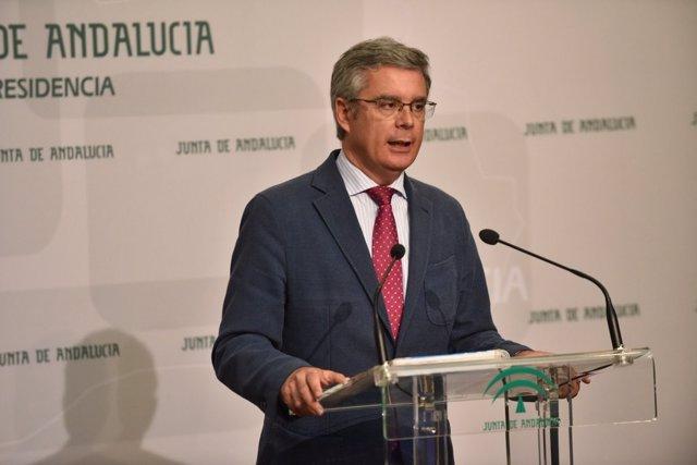Juan Carlos Blanco, portavoz del Gobierno andaluz, en San Telmo