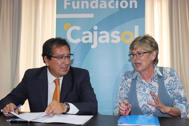 Acuerdo entre la Fundación Cajasol y el CB Conquero de Huelva.