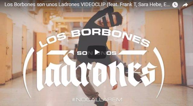 Portada del vídeoclip 'Los borbones son unos ladrones'