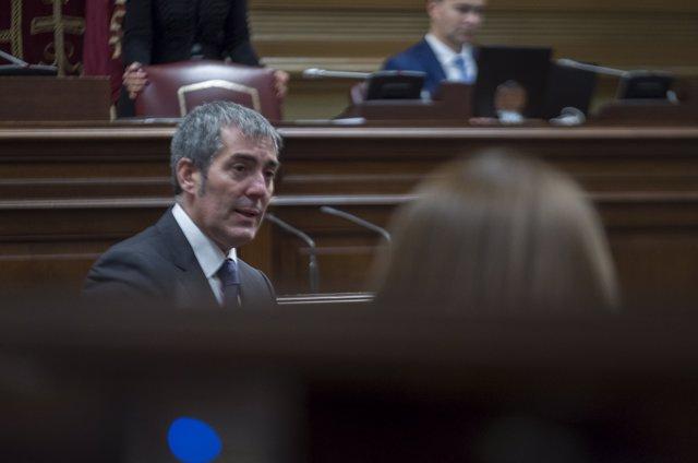 Fernando Clavijo interviene en el Pleno del Parlamento de Canarias