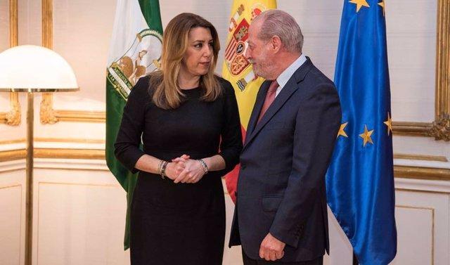 Susana Díaz se reúne con el presidente de la FAMP en San Telmo
