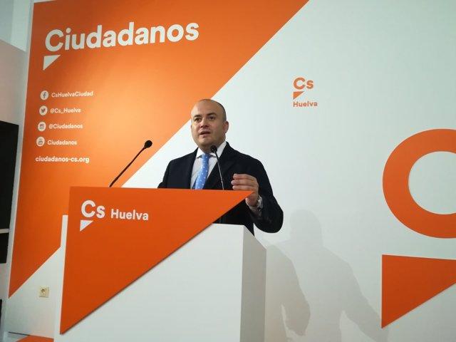 El parlamentario andaluz de Cs por Huelva, Julio Díaz.