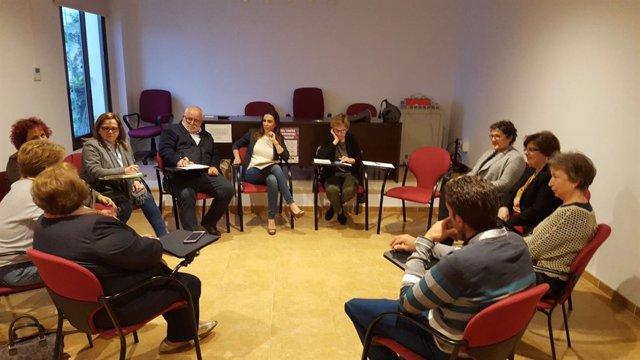 Ciudadanos Málaga Teresa Pardo se reúne con colectivos del Guadalhorce sanidad
