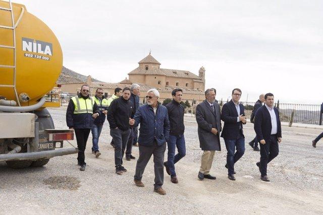 La actuación de Diputación se centra en la mejora del acceso a 'El Saliente'.
