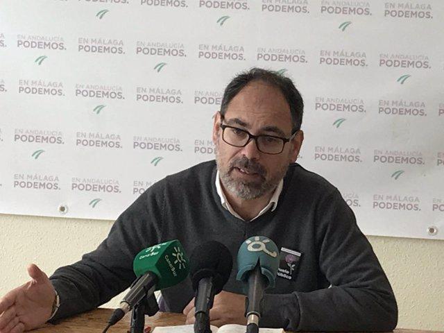Alberto Montero diputado de Podemos por Málaga y secretario general de la formac