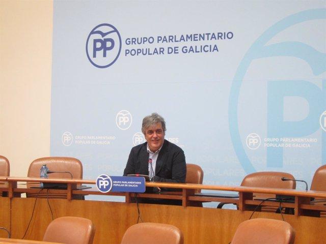El portavoz parlamentario del PPdeG, Pedro Puy