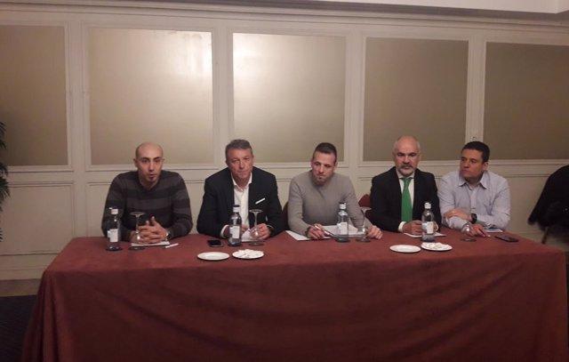 Rueda de prensa de creación de Jupol, con miembros de Jusapol