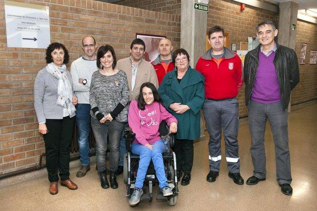 María José Beaumont, en la campaña de seguridad vial en centros educativos.