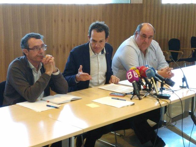 El conseller Marc Pons en la Comisión de intrusismo y el consejo de transportes