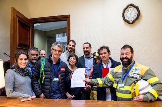 Unidos Podemos registra el Estatuto del BRIF
