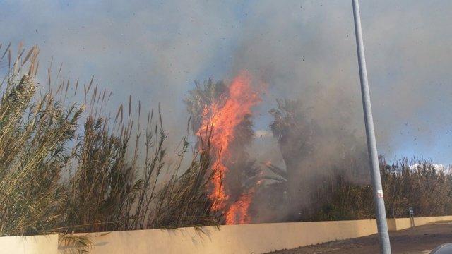 Incendio en Sant Antoni de Portmany