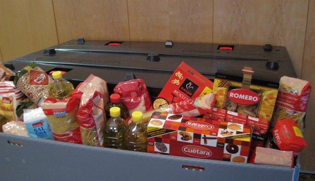 Contenedor de alimentos, campaña de donación de alimentos