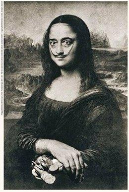 Salvador Dalí como La Mona Lisa