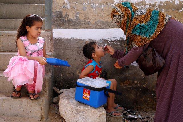 Campaña de vacunación contra la polio en Pakistán