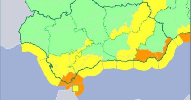 Avisos activos por lluvia y viento en Andalucía el 10 de abril de 2018