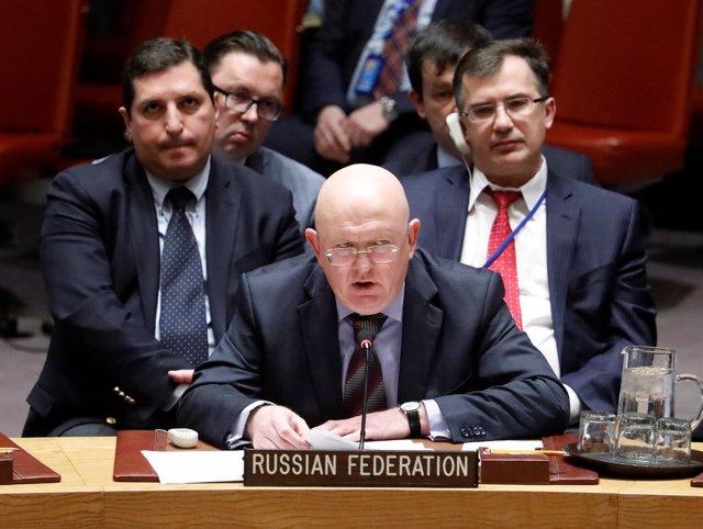 El embajador ruso ante la ONU, Vasili Nebenzia