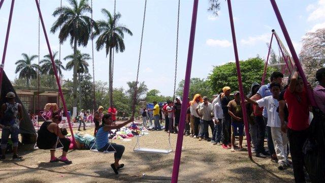 Caravana de migrantes centroamericanos en México