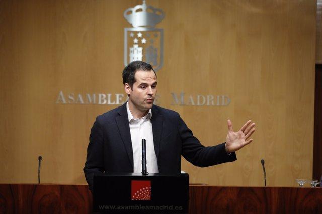 Rueda de prensa de Ignacio Aguado, portavoz de Cs en la Asamblea de Madrid
