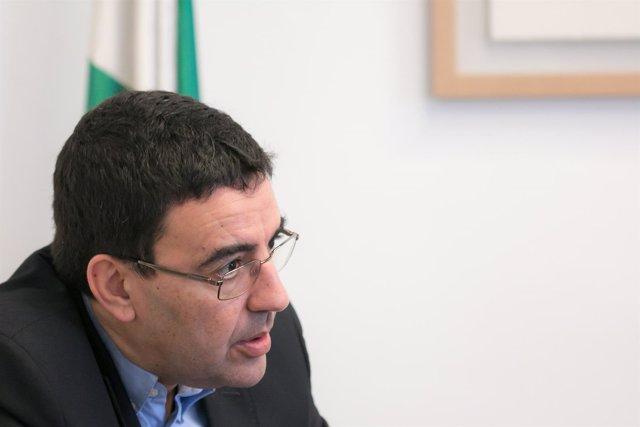 Mario Jiménez, portavoz del PSOE-A en el Parlamento andaluz