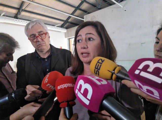 Francina Armengol en declaraciones a la prensa