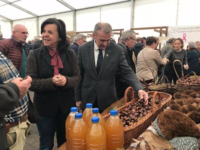La consejera de Desarrollo Rural y Recursos Naturales, María Jesús Álvarez,