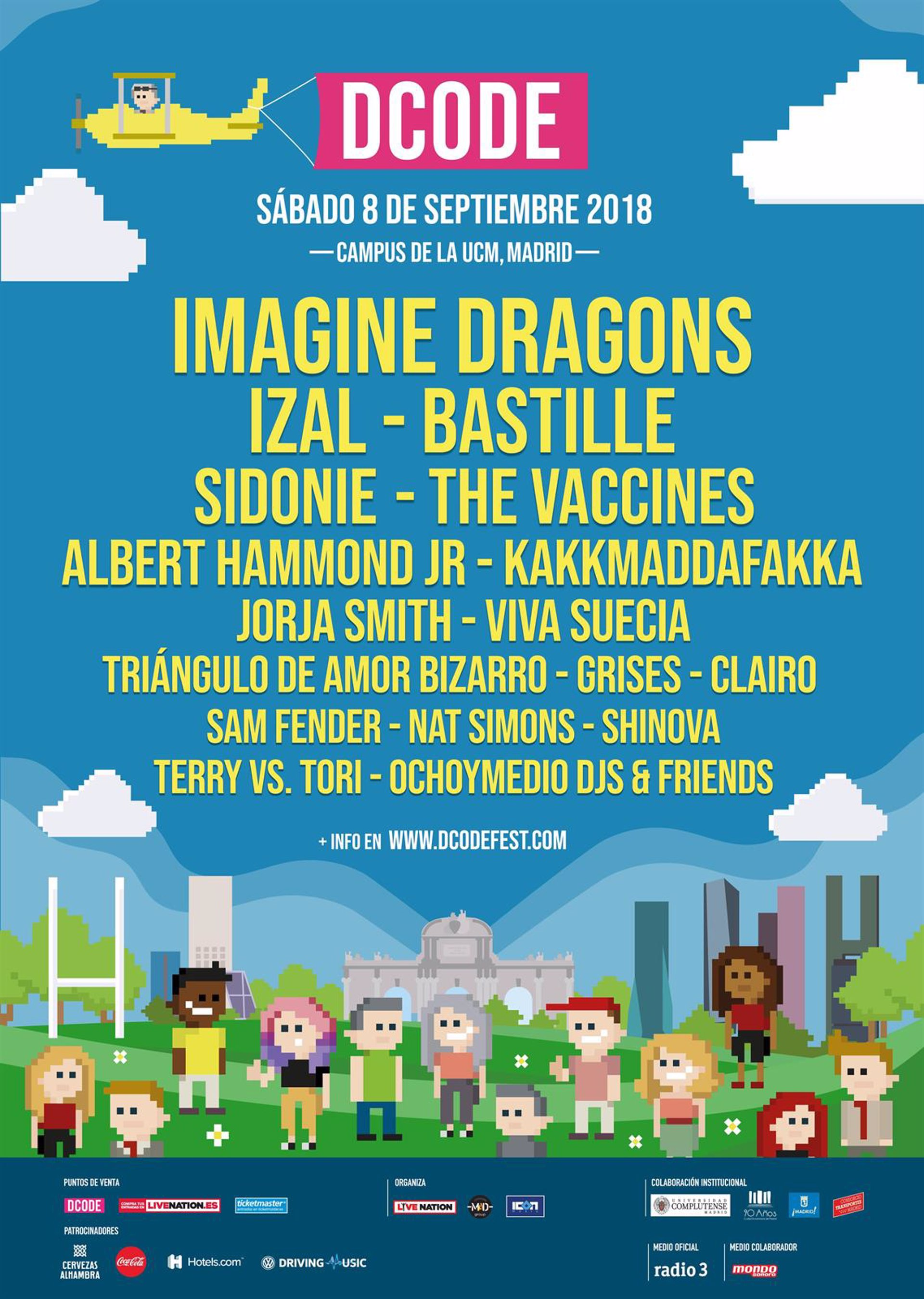 DCODE 2018: Imagine Dragons, Bastille e Izal, cabezas de cartel del ...