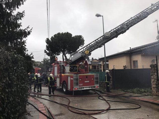 Incendio en Colmenarejo