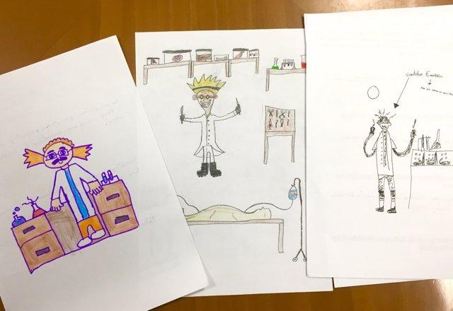 Dibujos día del investigador