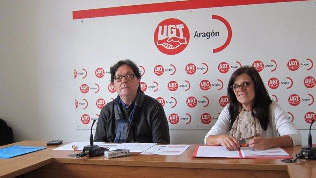 Julio Lacuerda y Alicia Hernández, de la FeSP de UGT