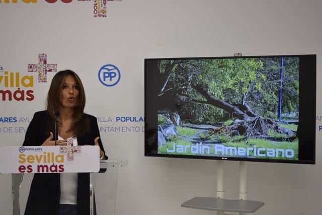 La concejal del PP de Sevilla Evelia Rincón